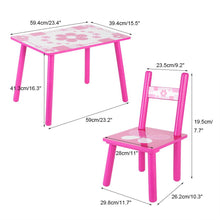Childrens Wooden Table and Chair Set