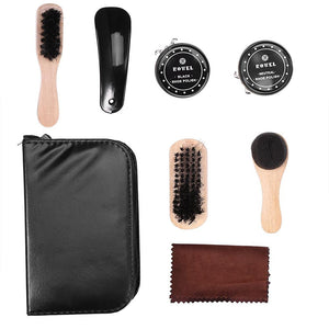 8PCS Leather Shoes Polishing Cleaning Kit