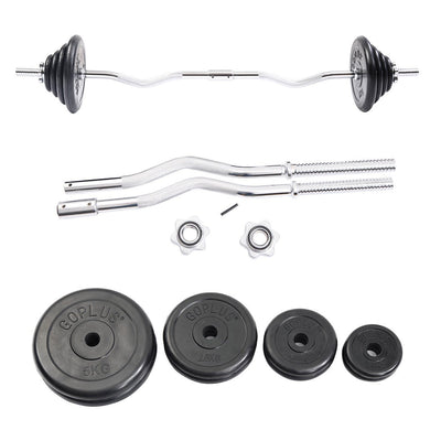 52 lbs Gym Lifting Exercise Barbell Weight Set