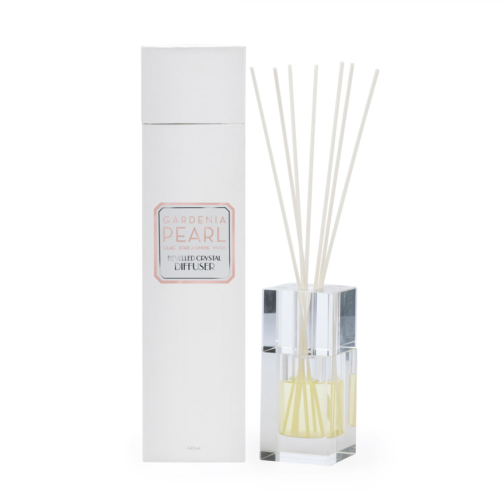 Gardenia Pearl 140ml Bevelled Crystal Diffuser - Apsley Australia