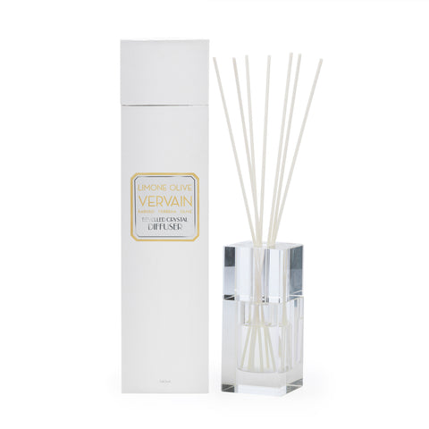 Image of Limone Olive Vervaine 140ml Bevelled Crystal Diffuser