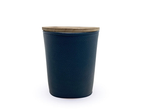 Image of Coastline 900g Leather candle - Apsley Australia