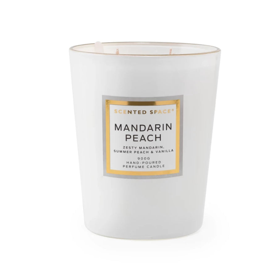 Mandarin Peach 900g Scented Soy Candle - Apsley Australia