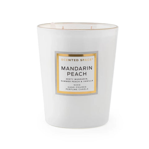 Image of Mandarin Peach 900g Scented Soy Candle - Apsley Australia
