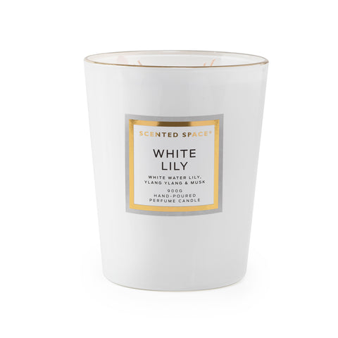 Image of White Lily 900g Scented Soy Candle