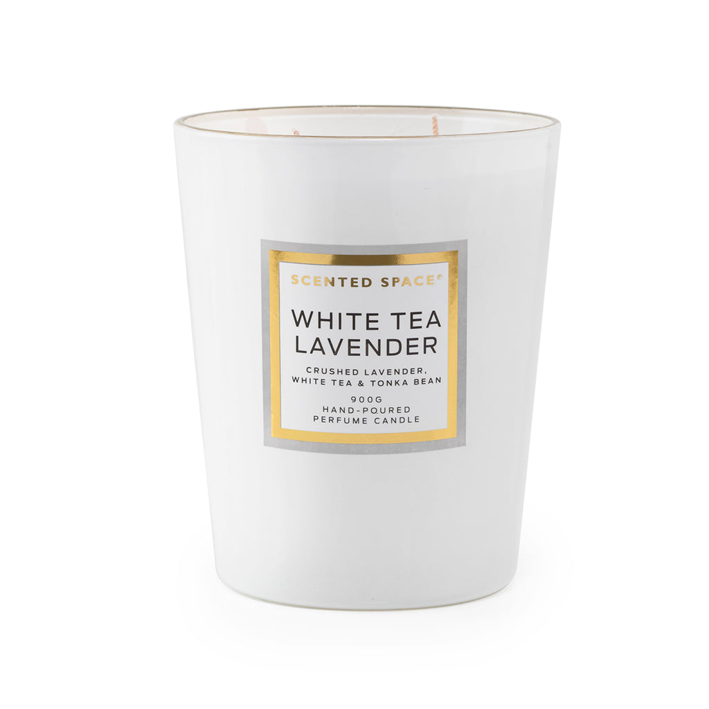White Tea Lavender 900g Scented Soy Candle - Apsley Australia