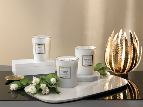 Image of White Lily 900g Scented Soy Candle - Apsley Australia