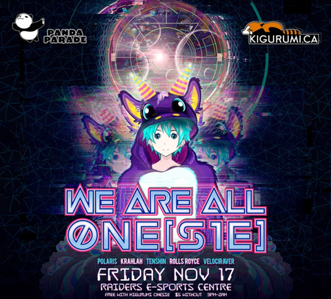 Hey Toronto! Come Party with US at We Are ALL One(sie)!