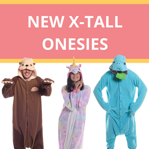 We've got NEW X-Tall Kigurumi Onesies!