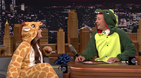 Meghan Trainor and Jimmy Fallon in Kigurumi