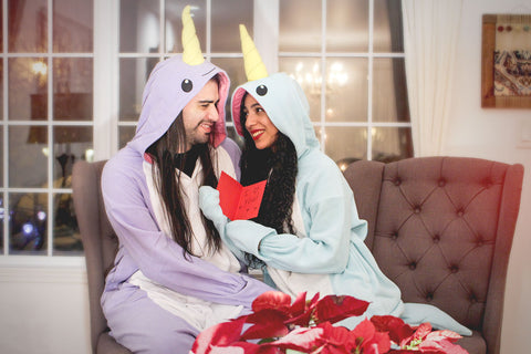 Purple and Blue Narwhal Kigurumi Valentine's Day