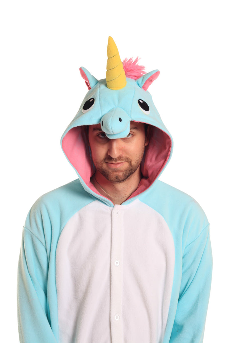Blue Unicorn X-Tall Animal Kigurumi Adult Onesie Costume Pajamas Hood