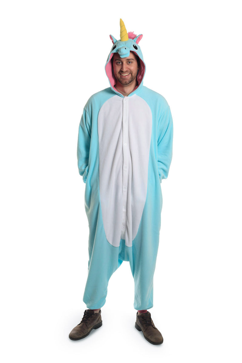 Blue Unicorn X-Tall Animal Kigurumi Adult Onesie Costume Pajamas Main