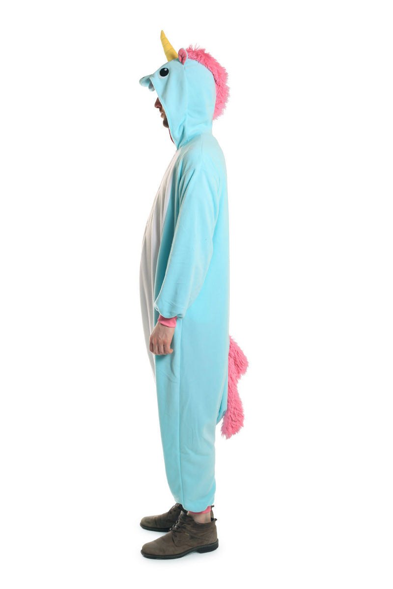 Blue Unicorn X-Tall Animal Kigurumi Adult Onesie Costume Pajamas Side