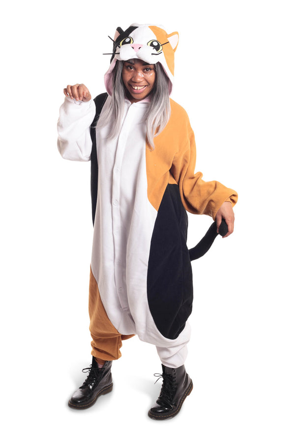 Calico Cat Animal Kigurumi Adult Onesie Costume Pajamas Main
