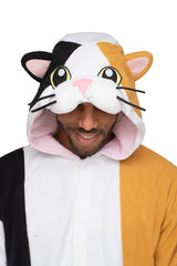 Calico Cat X-Tall Animal Kigurumi Adult Onesie Costume Pajamas Hood