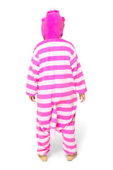 Cheshire Cat Character Kigurumi Adult Onesie Costume Pajamas Back