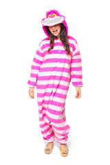 Cheshire Cat Character Kigurumi Adult Onesie Costume Pajamas Main