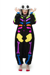 Colorful Skull Animal Kigurumi Adult Onesie Costume Pajamas Tertiary
