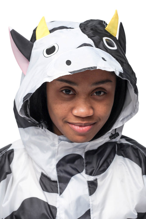 Cow Kigurumi Poncho Raincoat Adult One Size