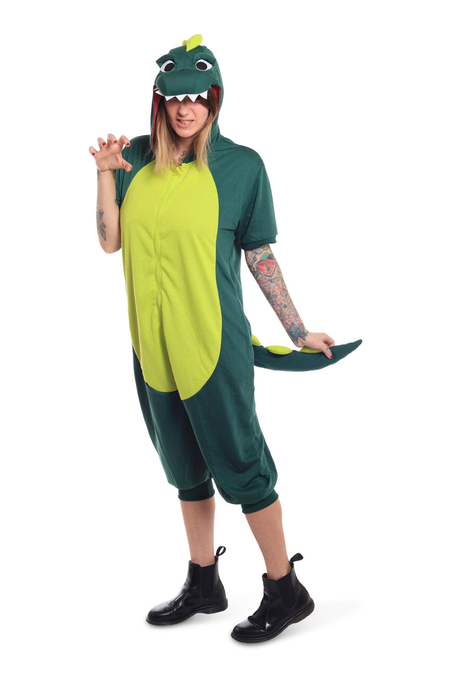 Dinosaur Short-Sleeved Animal Kigurumi Adult Onesie Costume Pajamas Main
