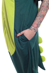 Dinosaur Short-Sleeved Animal Kigurumi Adult Onesie Costume Pajamas Pocket