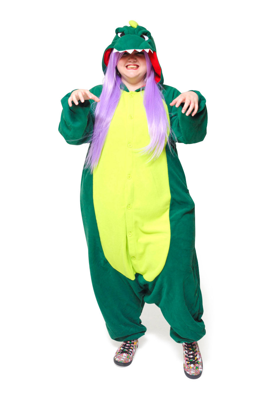 Dinosaur X-Tall Animal Kigurumi Adult Onesie Costume Pajamas Main