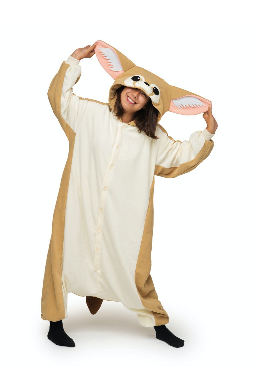 Fennec Fox Animal Kigurumi Adult Onesie Costume Pajamas Main