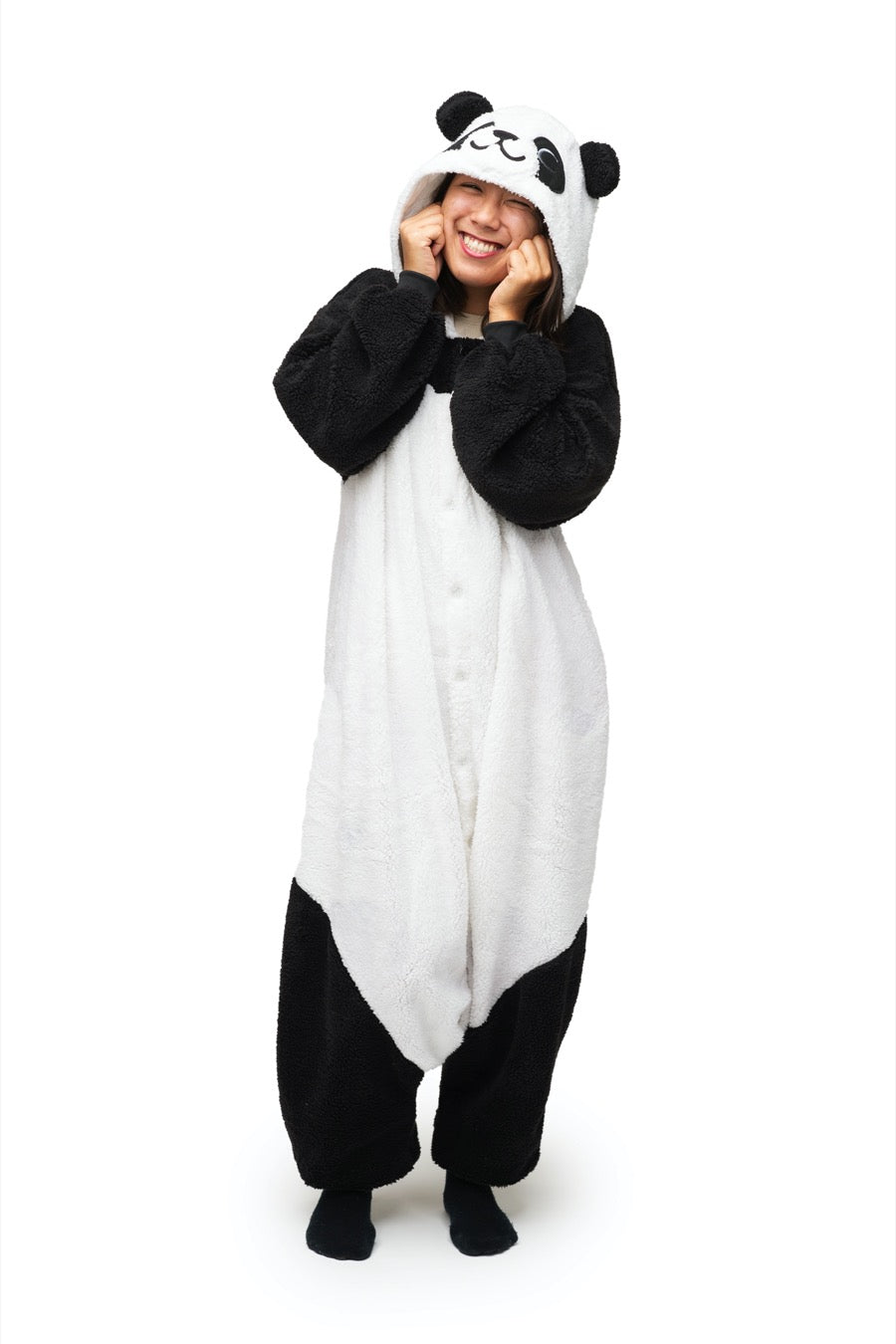 Fluffy Panda Animal Kigurumi Adult Onesie Costume Pajamas Main