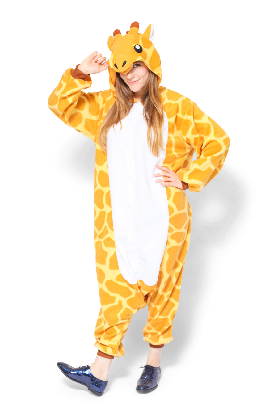 Giraffe Animal Kigurumi Adult Onesie Costume Pajamas Main