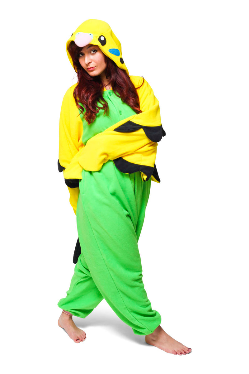 Green Budgie Animal Kigurumi Adult Onesie Costume Pajamas Secondary
