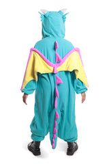Huff the Teal Dragon Animal Kigurumi Adult Onesie Costume Pajamas Back