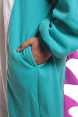 Huff the Teal Dragon Animal Kigurumi Adult Onesie Costume Pajamas Pocket