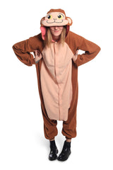 Japanese Monkey Animal Kigurumi Adult Onesie Costume Pajamas Main