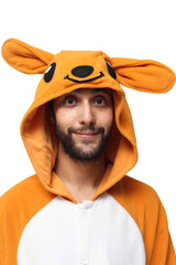Kangaroo Animal Kigurumi Adult Onesie Costume Pajamas Hood