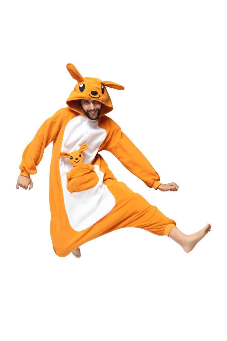 Kangaroo Animal Kigurumi Adult Onesie Costume Pajamas Main