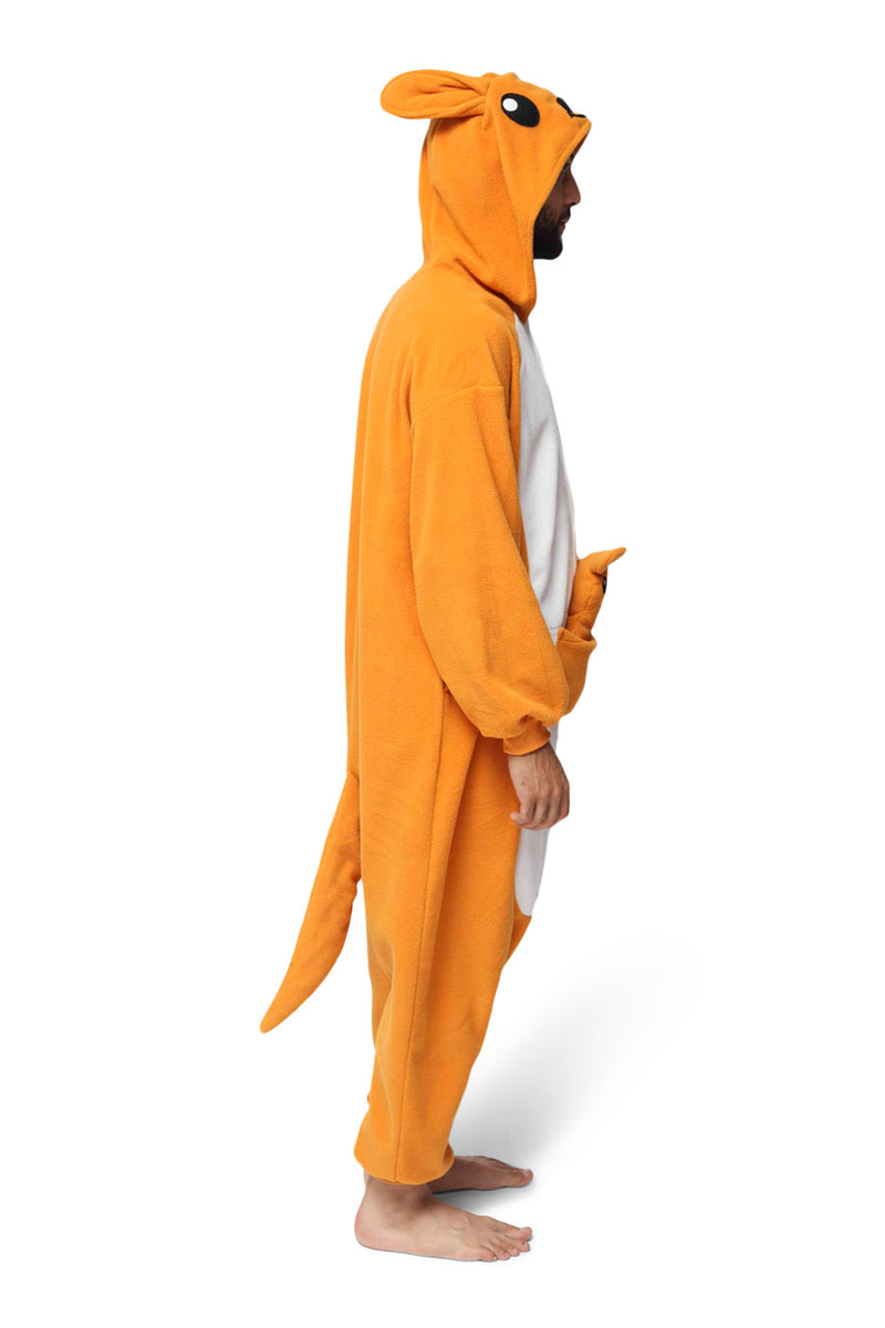 Kangaroo Animal Kigurumi Adult Onesie Costume Pajamas Side