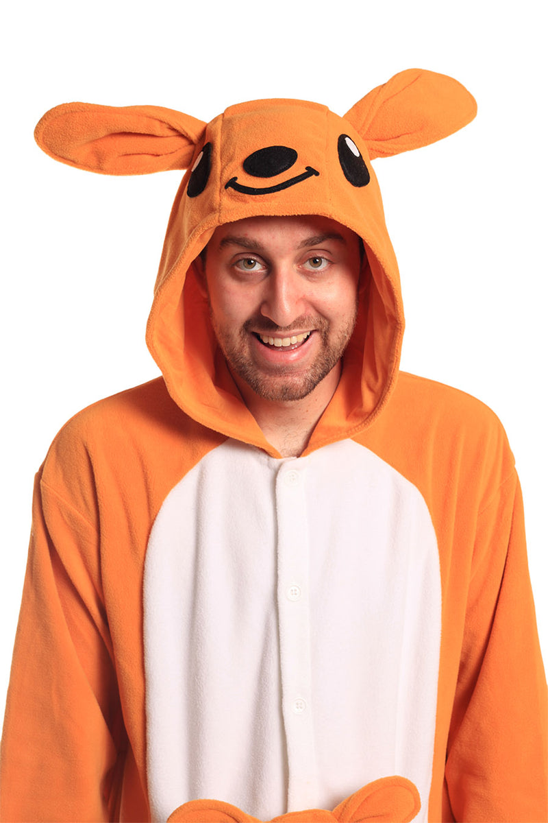 Kangaroo X-Tall Animal Kigurumi Adult Onesie Costume Pajamas Hood
