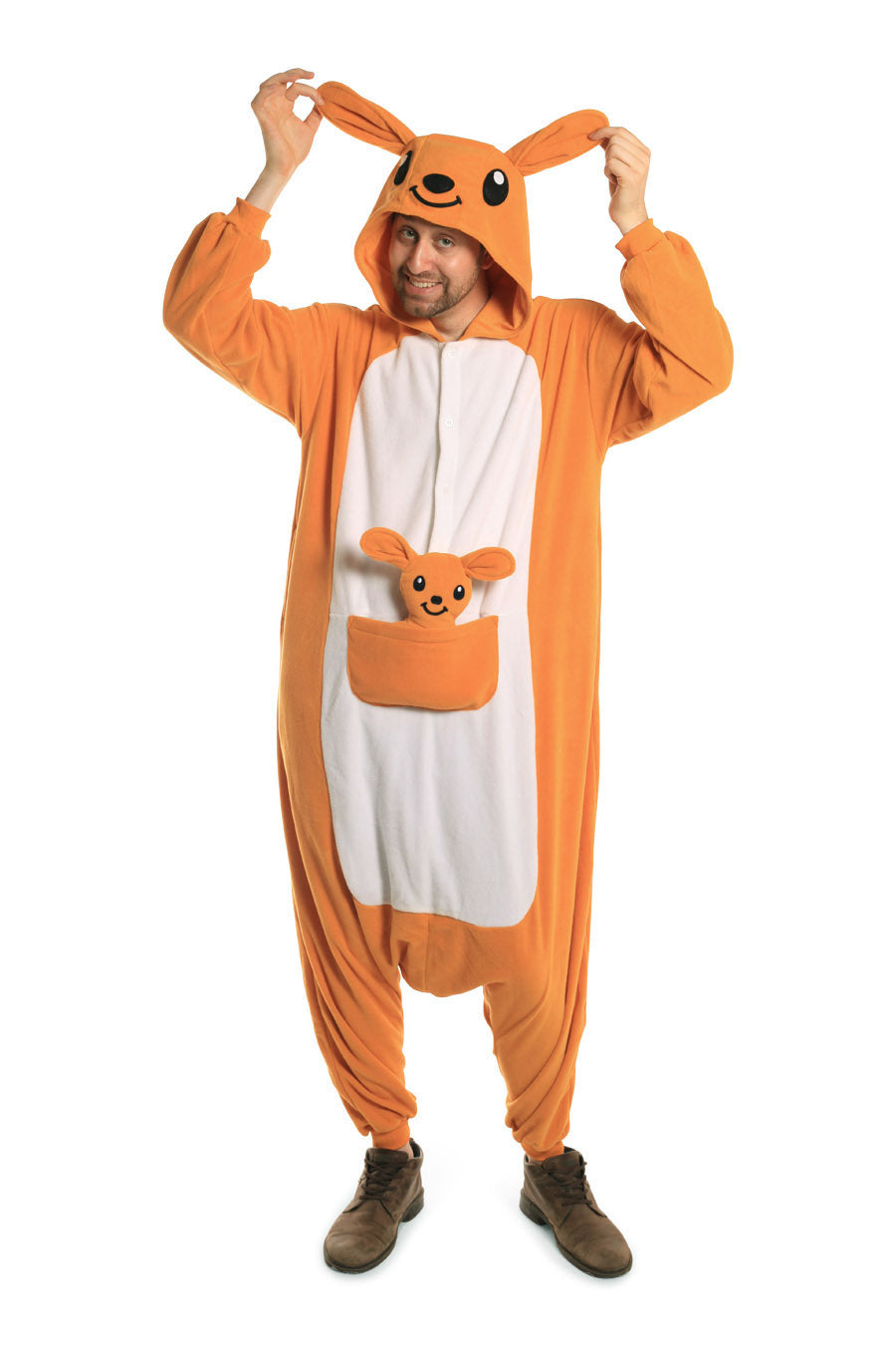 Kangaroo X-Tall Animal Kigurumi Adult Onesie Costume Pajamas Main