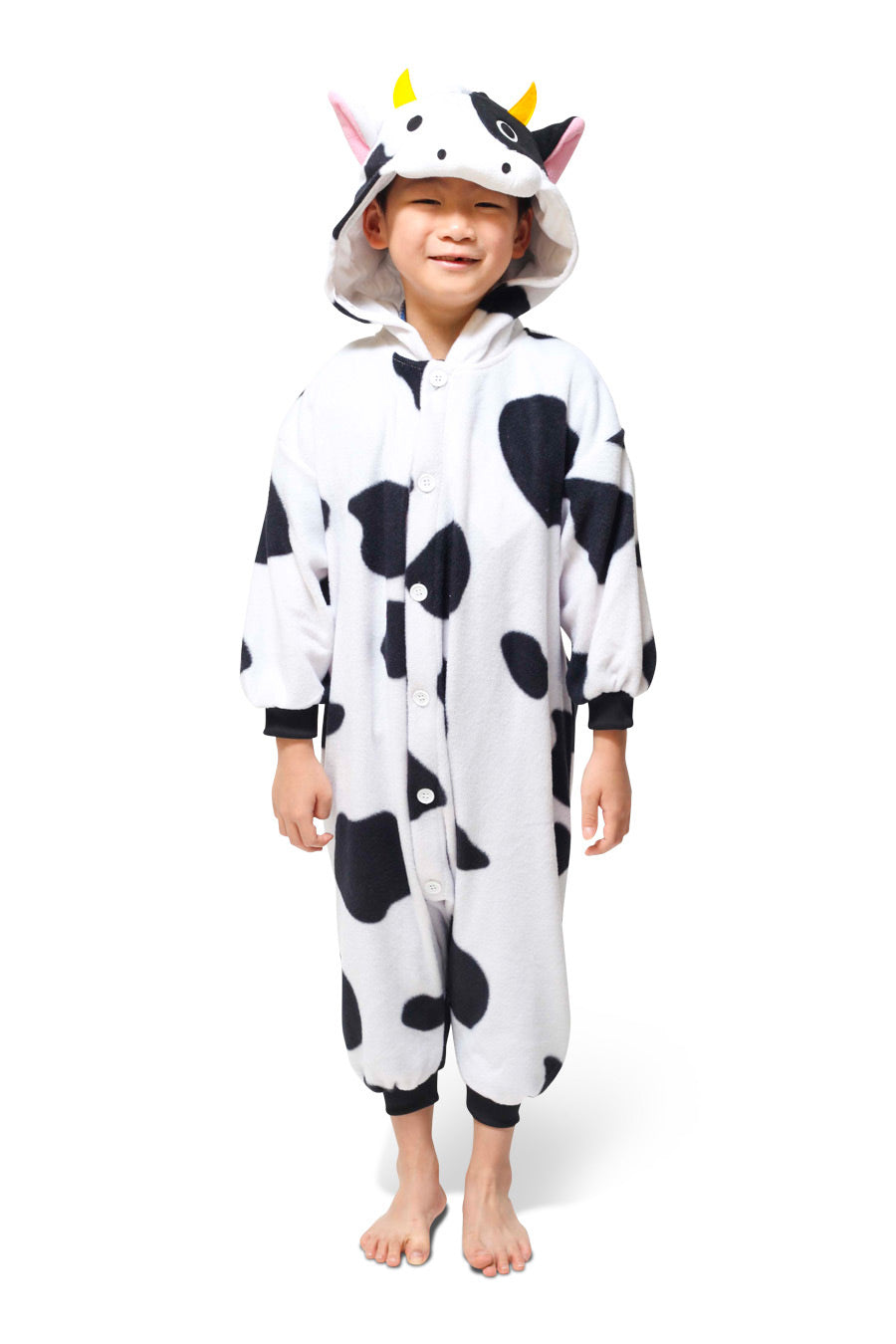 Kids Cow Animal Kigurumi Onesie Costume Pajamas Main 110cm