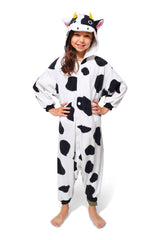 Kids Cow Animal Kigurumi Onesie Costume Pajamas Secondary 130cm