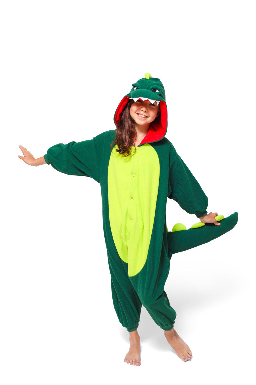 Kids Dinosaur Animal Kigurumi Onesie Costume Pajamas Main 130cm