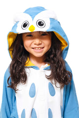 Kids Owl Animal Kigurumi Onesie Costume Pajamas Hood 130cm