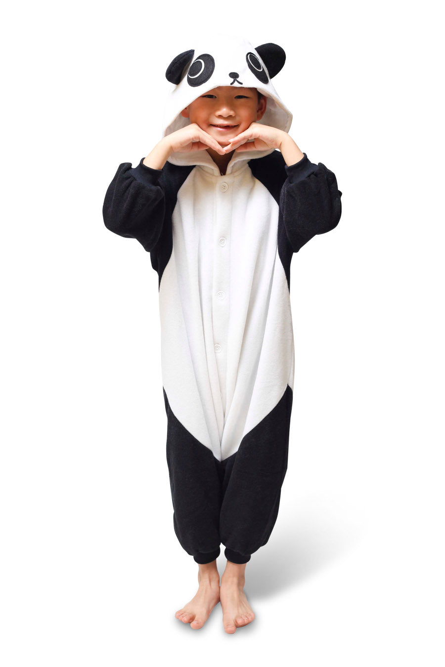 Kids Panda Animal Kigurumi Onesie Costume Pajamas Main 110cm
