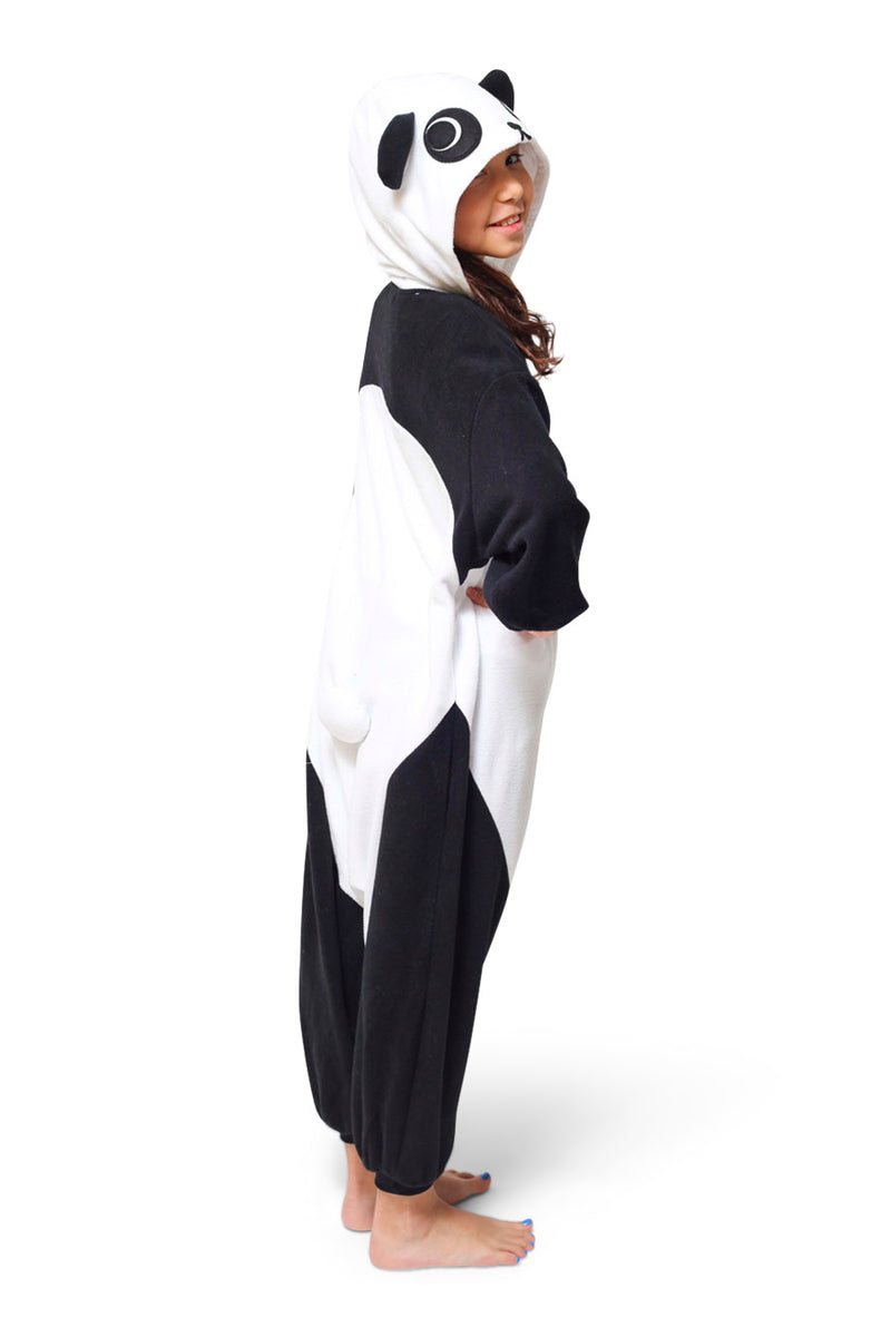 Kids Panda Animal Kigurumi Onesie Costume Pajamas Side 130cm