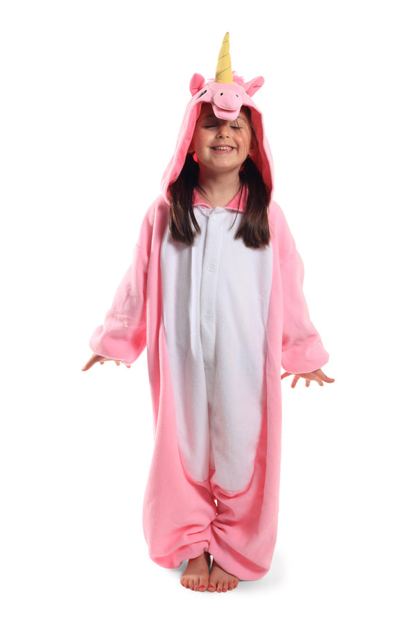 Kids Pink Unicorn Animal Kigurumi Onesie Costume Pajamas Main 130cm