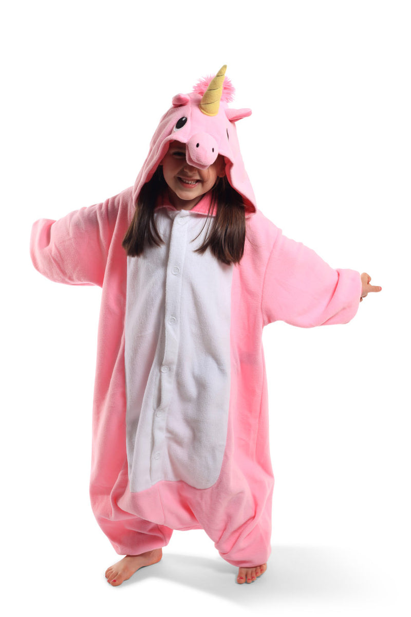 Kids Pink Unicorn Animal Kigurumi Onesie Costume Pajamas Secondary 130cm