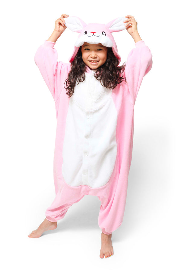 Kids Rabbit Animal Kigurumi Onesie Costume Pajamas Main 130cm