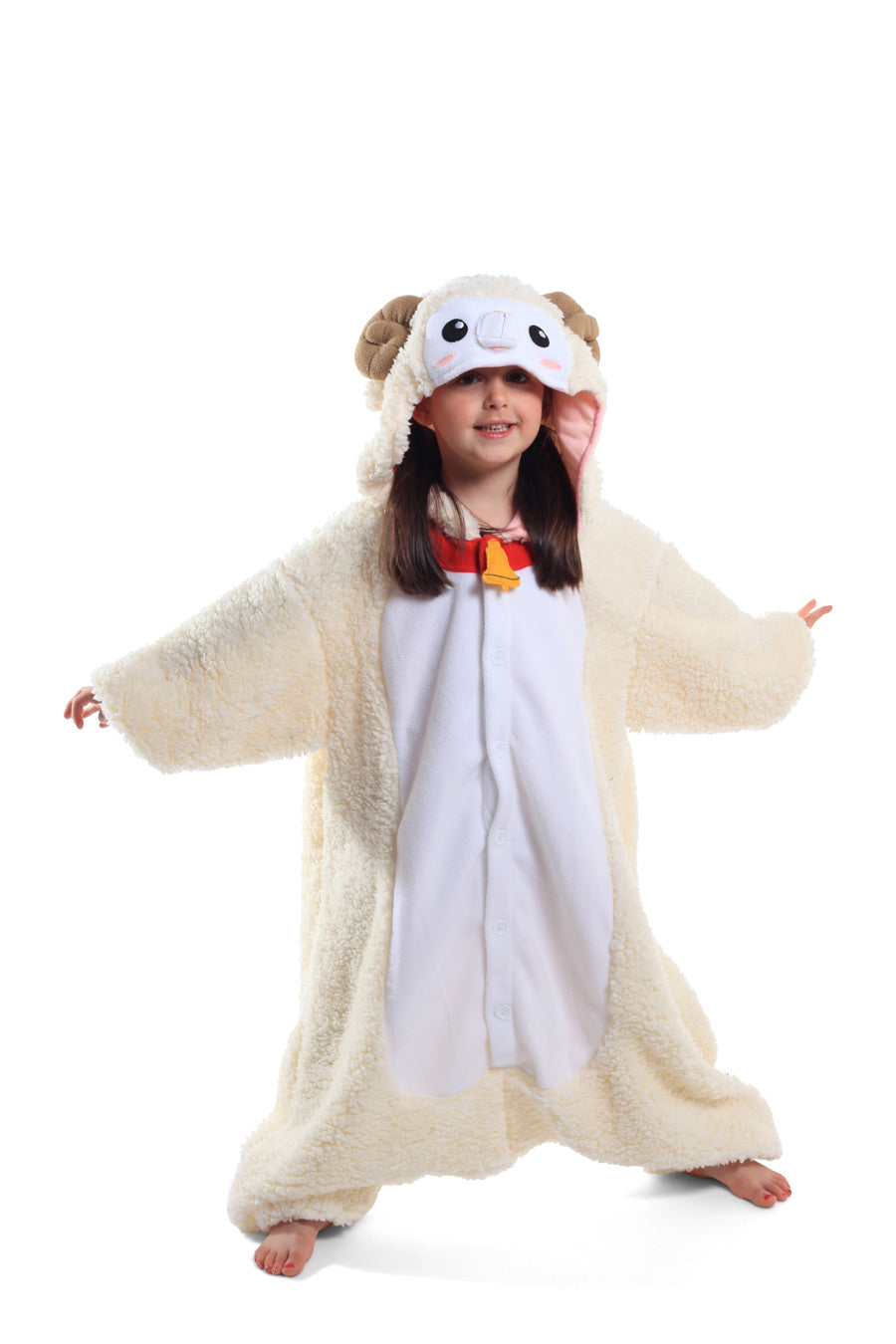 Kids Sheep Animal Kigurumi Onesie Costume Pajamas Main 130cm