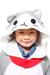 Kids Tabby Cat Animal Kigurumi Onesie Costume Pajamas Hood 110cm